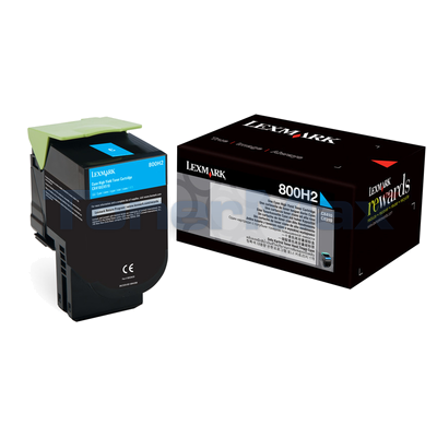 LEXMARK CX410 TONER CARTRIDGE CYAN 3K